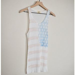 PROJECT SOCIAL T American Flag Ribbed Tank